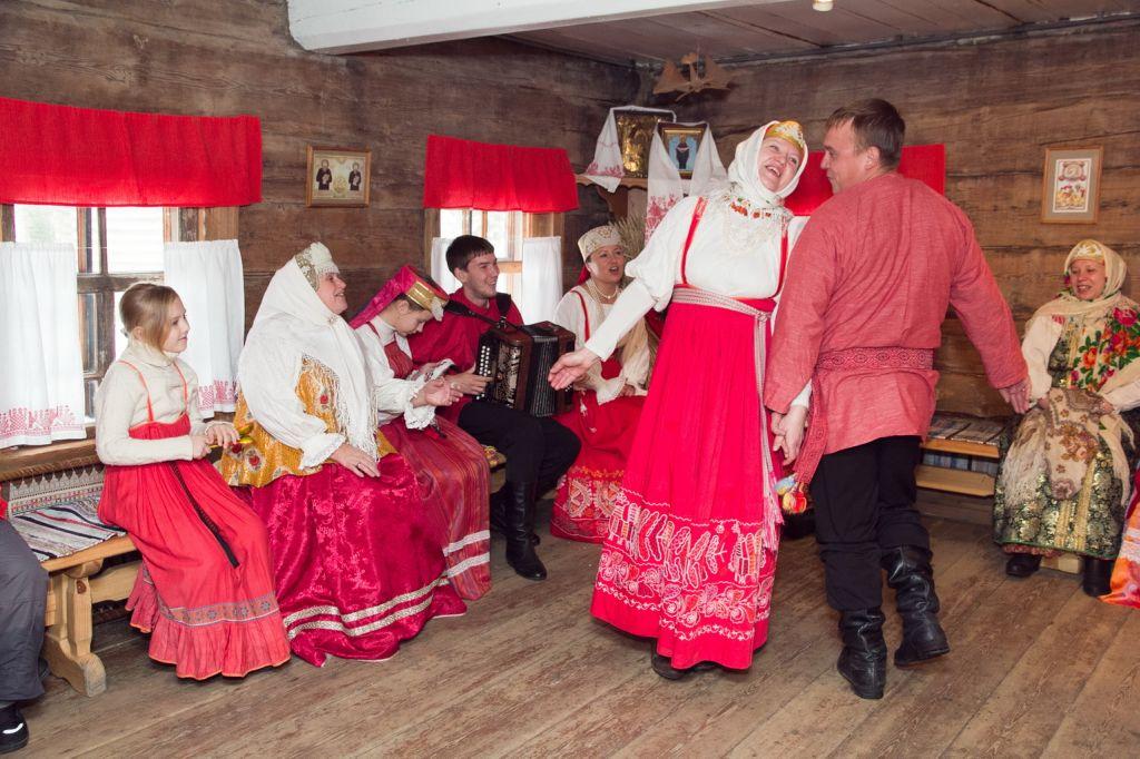 Картинки посиделки в русской избе